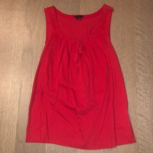 Theory Red Blouse, Size P / Size Small, Tank Top